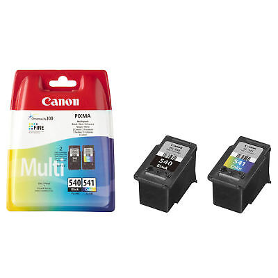 Genuine Canon PG-540 Black & CL-541 Colour Ink Cartridge Twin For PIXMA MG3550