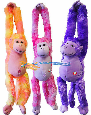 Long Arm Hanging Plush Monkey Soft Cuddly Teddy Toy With Sounds