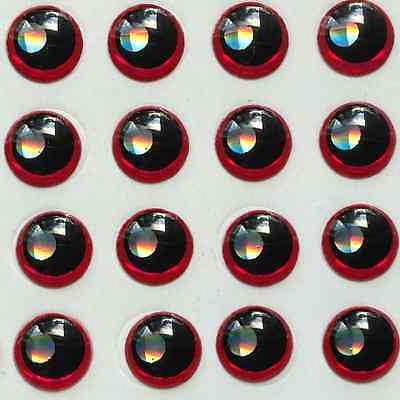 3D Red Black Silver Red Holographic Fish Eyes Fly Tying Lure Eye Craft 4mm 5mm