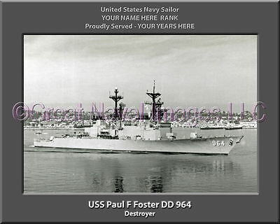 United States NavyUSS Paul F U.S Foster DD-964Gold Plated Challenge Coin