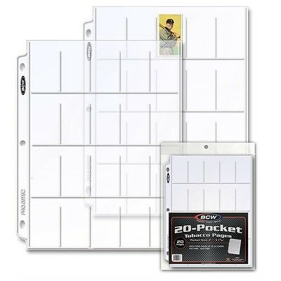 Tobacco Card 20 Pocket Display Page x 20 page pack