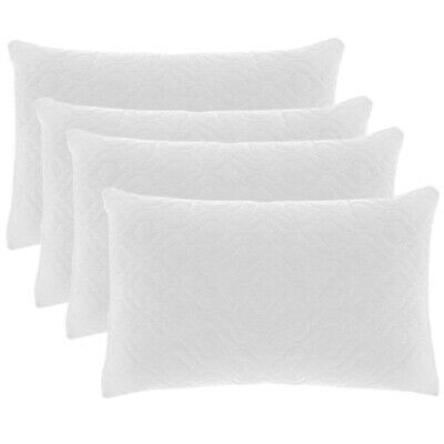 Water Resistant Quilted Pillow Protectors Anti Allergy Anti Dust Mite Waterproof