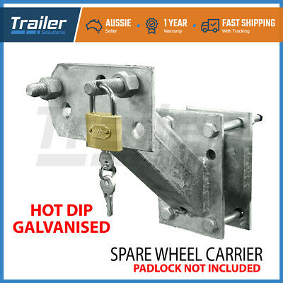 Spare Wheel Bracket Carrier Holder Tyre Galvanized Trailer Part Caravan Boat