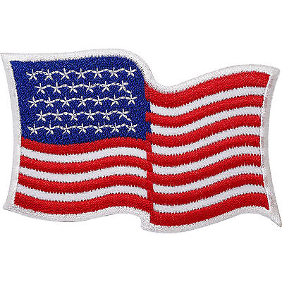 USA Flag Embroidered Iron / Sew On American Patch United States US America Badge