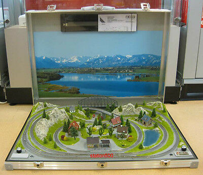 """NOCH 88281 Z Scale Briefcase Layout """"TESSIN"""" with Rokuhan tracks 78x54 cm - NEW"""