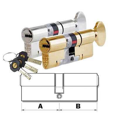 Yale Thumb Turn Euro Cylinder Door Lock AS Platinum TS007 3 Star