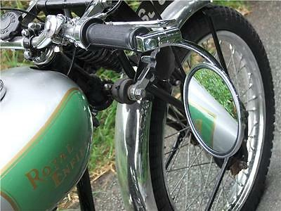 Classic Motorcycle Round Handlebar End Mirror