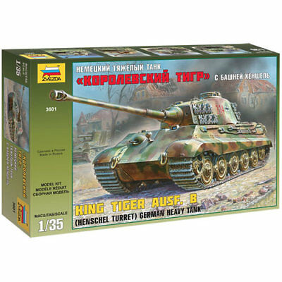 ZVEZDA 3601 King Tiger Ausf.B Henshcel Turret 1:35 Tank Model Kit