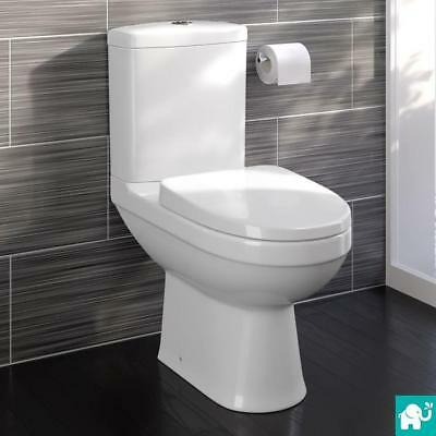 Toilet Bathroom Pan Modern Round Close Coupled Soft Close Seat WC CT621CCT