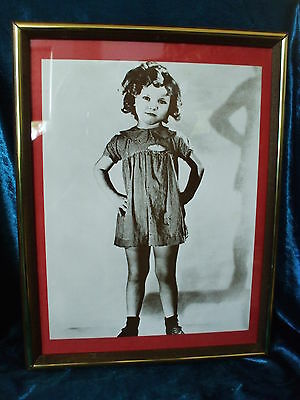 """1934 B/W Shirley Temple Photo and frame """"Little Miss Marker""""  Very Nice"""