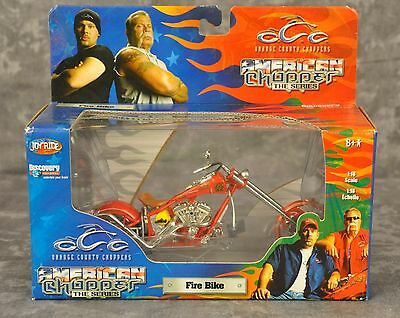 OCC Fire Bike Diecast Motorcycle 1:18 Scale Replica Complete With Box