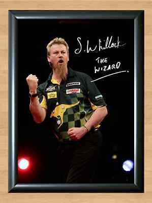 Simon Whitlock Darts Signed Autographed A4 Poster Photo Print Photograph Picture