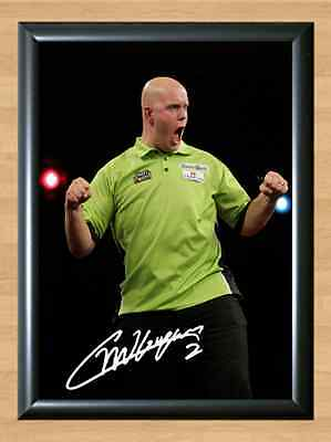 Michael Van Gerwen Darts Gerwin MVG Signed Autographed A4 Poster Photo Print