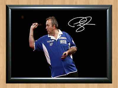 Phil Taylor Darts Newcastle World Signed Autographed A4 Poster Photo Print Gift
