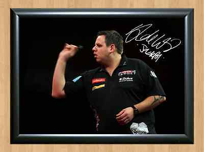 Adrian Lewis Darts Signed Autographed A4 Poster Photo Print Photograph Pub Wall