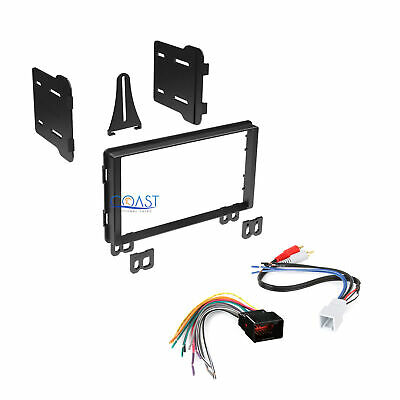 Double DIN Car Stereo Dash Kit + Harness for 2001-2006 Ford Lincoln Mercury