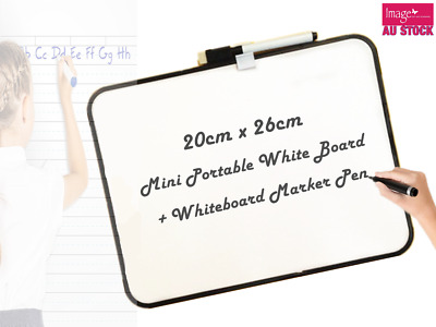 1pc Whiteboard Portable Size White Board Dry Erase Board 20x26cm YW