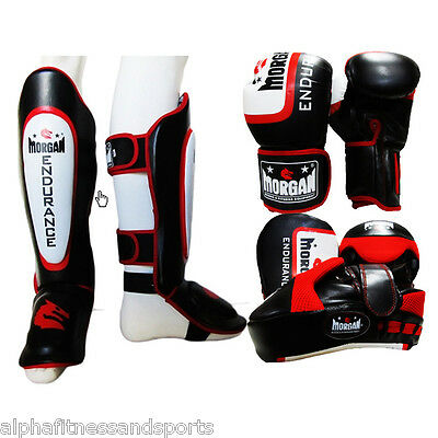 Morgan Shin Instep Guard Boxing Gloves Focus Pads Pro MMA Muay Thai FREE GIFT