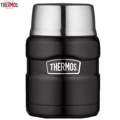 Thermos Stainless King Food Flask Matt Black 0.47L Packing Outdoor Travel New