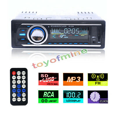NEW Car Audio Stereo In Dash FM Radio W/MP3 Player/USB/SD/Input AUX Receiver