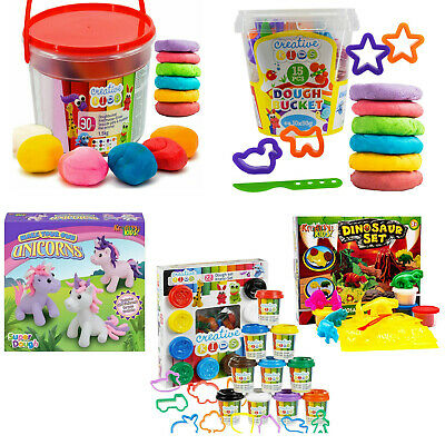 Kids Play  Dough Doh Moulding Modelling Set Tubs Clay Rolling Pin Cutters Moulds