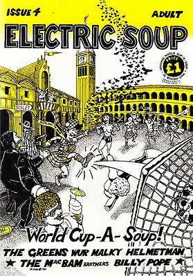 ELECTRIC SOUP #4. 1990. Frank Quitely. Scottish Humour. BAGGED. FREE UK P+P! NEW