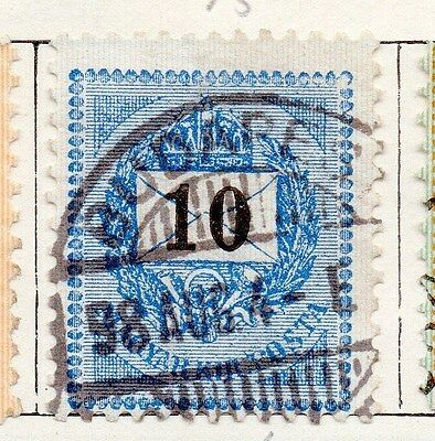 Hungary 1887 Early Issue Fine Used 10kr. 168015
