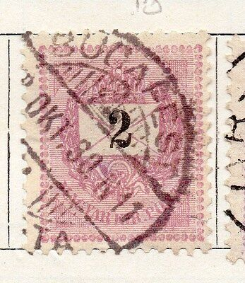 Hungary 1874 Early Issue Fine Used 2kr. 167998