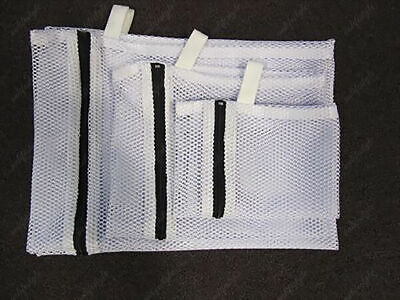 Commercial Laundry Washing Net Bag Heavy Duty Fine Mesh With Durable Zip S M L
