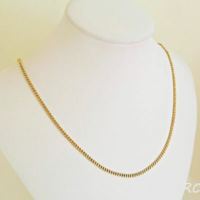2.5 mm Genuine 24K Gold Filled Women's Unisex Link Chain Necklace