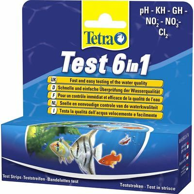 Tetra 6 in 1 PH KH GH NO2 NO3 C12 Tropical Aquarium Water Multi Test Kit