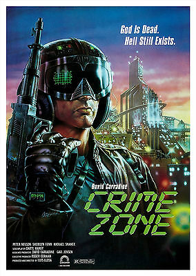 Crime Zone (1989) - A1/A2 Poster **BUY ANY 2 AND GET 1 FREE OFFER**