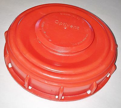 """275-330 Gn IBC Tote Tank VENTED 6"""" Cover Lid Cap Schutz Mauser & Most Other RED"""