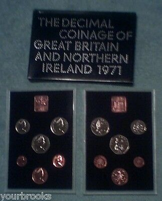 1971 Royal Mint 6 Coin Proof Set in Sealed Plastic & Box Great Britain Ireland