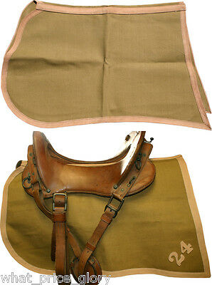 US Cavalry and Mounted Troops Canvas and Leather Saddle Cloth