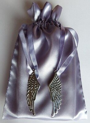 Silver Feather Charm Tarot Bag