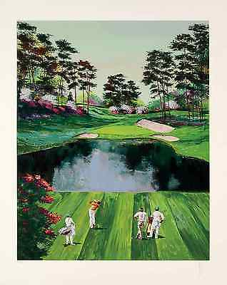 """Mark King-""""The 16th Hole at Augusta"""", hand-signed serigraph on paper"""