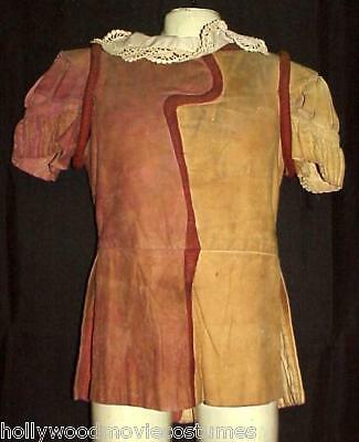 Medieval Renaissance Elizabethan Sueded Leather Doublet Western Costume Company