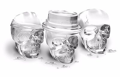 Tovolo Skull Ice Molds 3 Set Large Silicone Cocktails Whiskey Halloween Party
