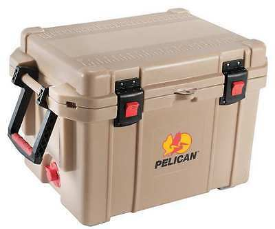 PELICAN 45QT Marine Chest Cooler, 45 qt., Tan