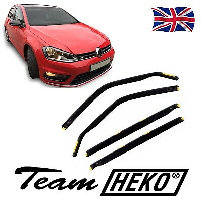 Wind Deflectors VW GOLF 7 mk7  5 DOOR HATCHBACK 2012-onwards 4pc HEKO TINTED