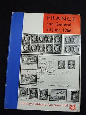 Stanley Gibbons Auction Catalogue 1966 France And General