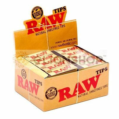 Full Box ( RAW Regular Tips ) Unrefined Rolling Paper Tips Filter Chemical Free