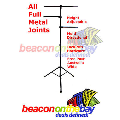 Steel Joint Portable DJ Stage Disco Lighting Stand Tree Truss Tripod + Hardware