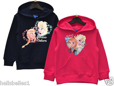 Girl's Fully Licence Official Frozen Fleece Lined Hoodie/hooded Top 3 4 5 6 7 8Y