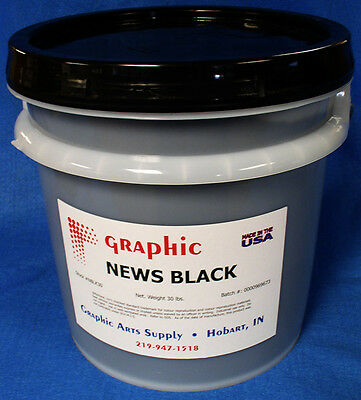 Black Ink - Cold Set Web Black Offset Ink - Better Water Window & Mileage 30 Lbs