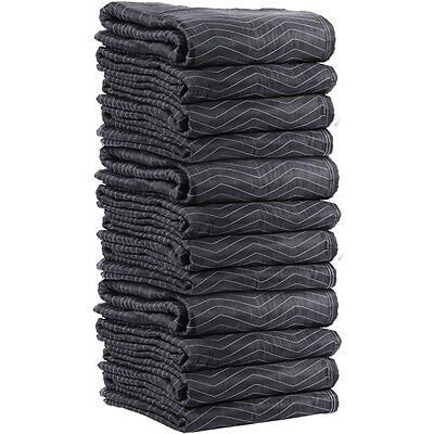 "Lot of 12 PC Heavy Duty Padded Moving Blankets 72"" x 80"" Washable"