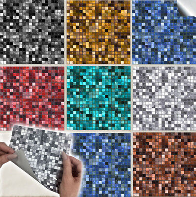 Multi Mosaic Tile Sticker Transfer for Kitchen or Bathroom - Various Colours TP3