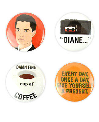 Agent Cooper Button Set! damn fine cup of coffee, diane, Twin peaks MacLachlan