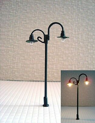S148 - Set 10 Piece Lamps Streetlights nostalgic 2 flame 6,5cm
